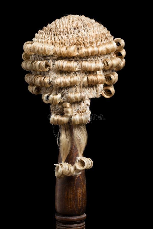 Назад парика адвоката стоковое фото rf