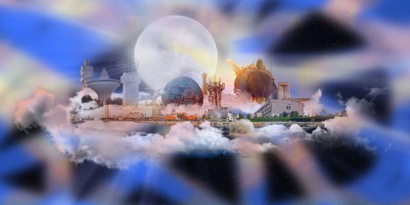 наземные ориентиры jeddah города иллюстрация штока