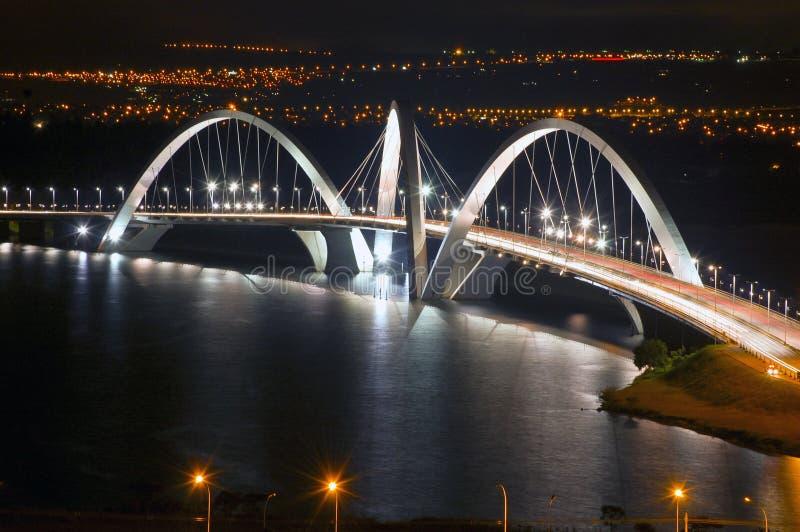наземный ориентир jk моста brasilia стоковые изображения