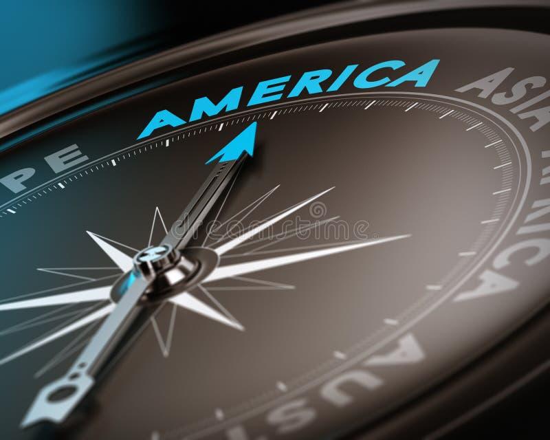 Назначение перемещения - Америка иллюстрация штока