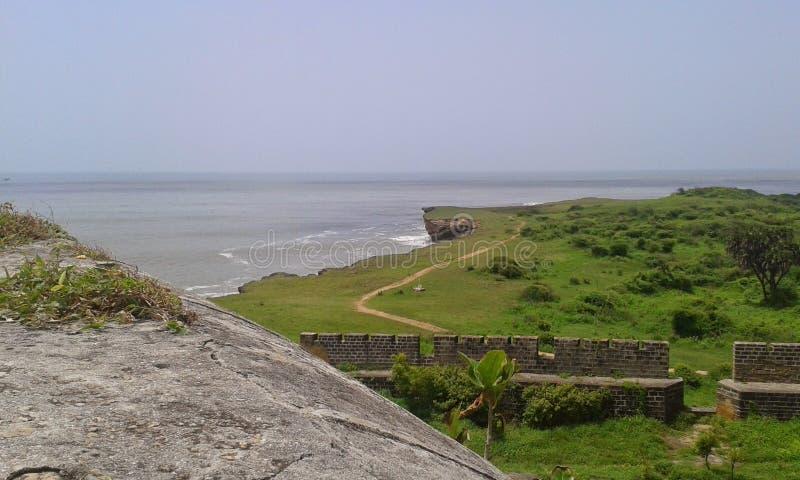 Назначение пляжа Diu самое лучшее на праздник в Индии стоковое фото