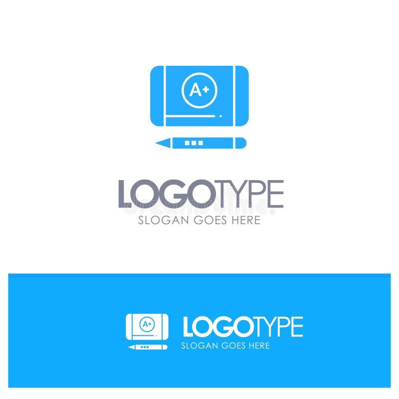 Наиболее хорошо ранг, достигните, вектор логотипа образования голубой иллюстрация вектора