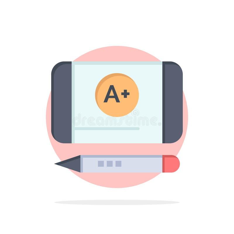 Наиболее хорошо ранг, достигните, предпосылки круга образования значок цвета абстрактной плоский бесплатная иллюстрация