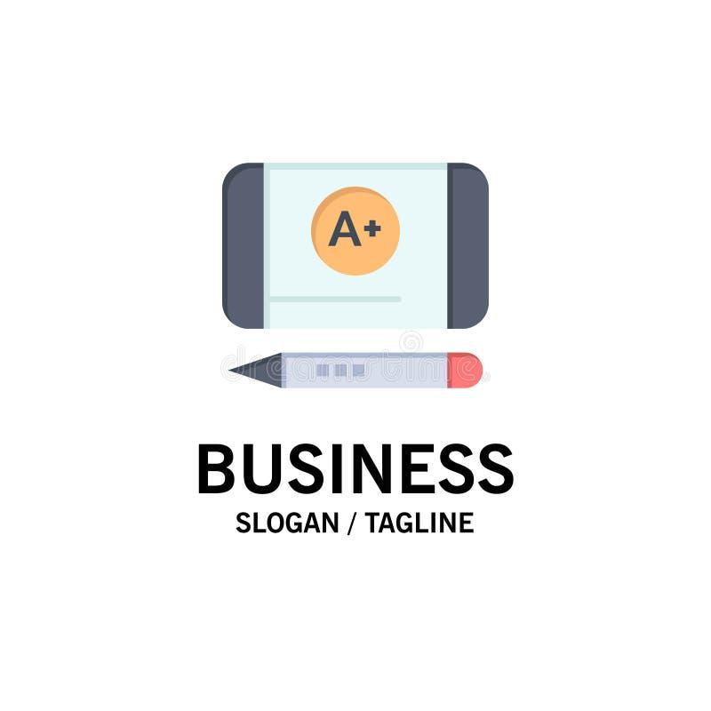 Наиболее хорошо ранг, достигните, шаблон логотипа образовательного бизнеса r иллюстрация вектора
