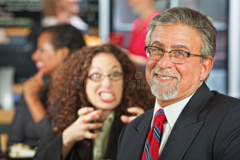 Наивный бизнесмен стоковое фото rf