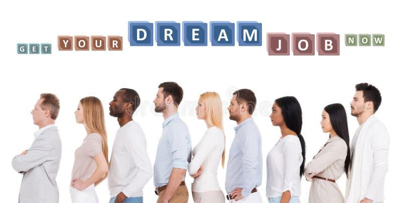 Найдите ваша мечт работа! стоковое изображение