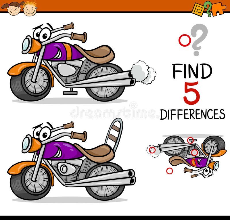 Найдите игра разниц иллюстрация штока