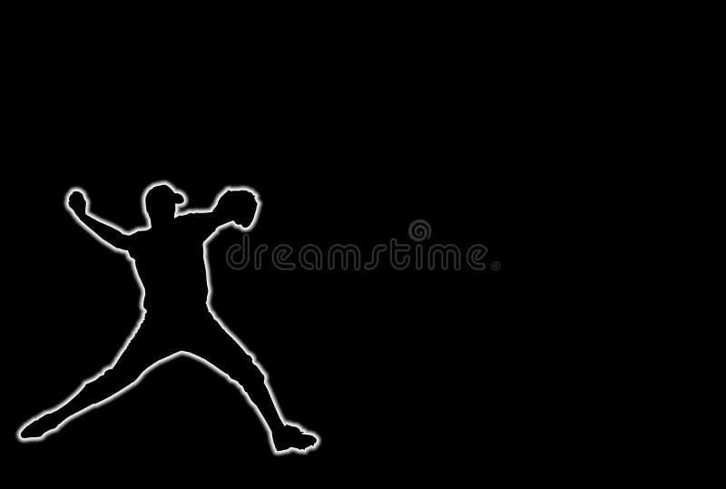 накалять бейсбола иллюстрация штока