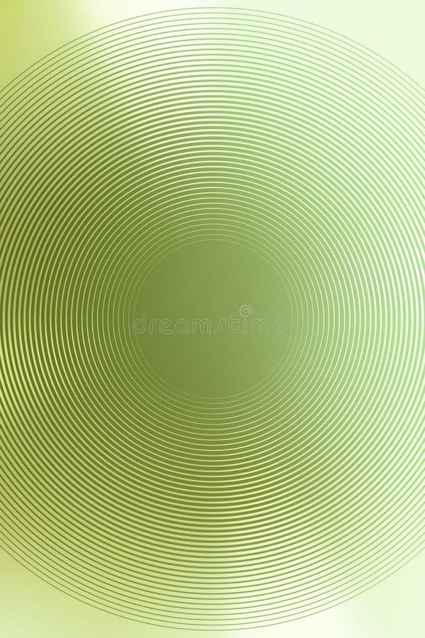 Зеленый градиент завода предпосылки радиальный накалять обоев иллюстрация вектора