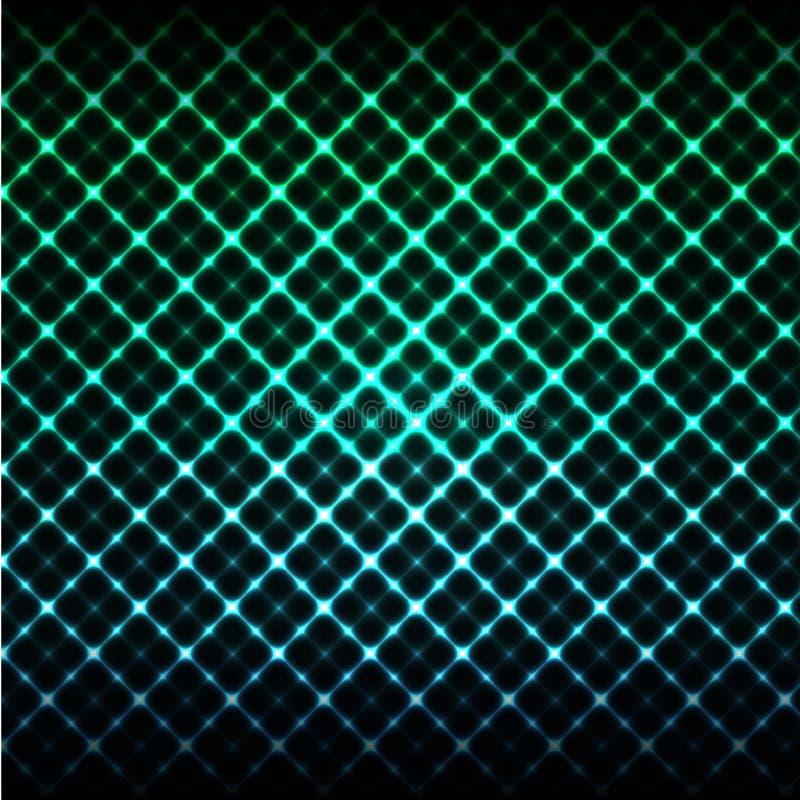 накалять предпосылки цифровой дизайн t Hi-техника зеленый и голубой решетки иллюстрация штока