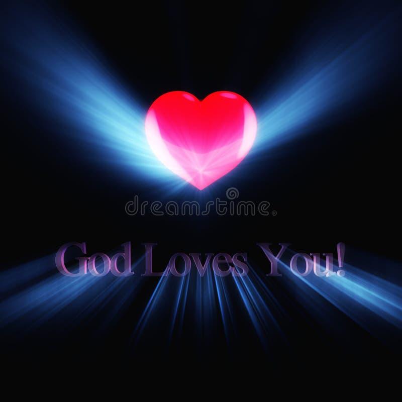 накаляя влюбленности надписи бога вы бесплатная иллюстрация