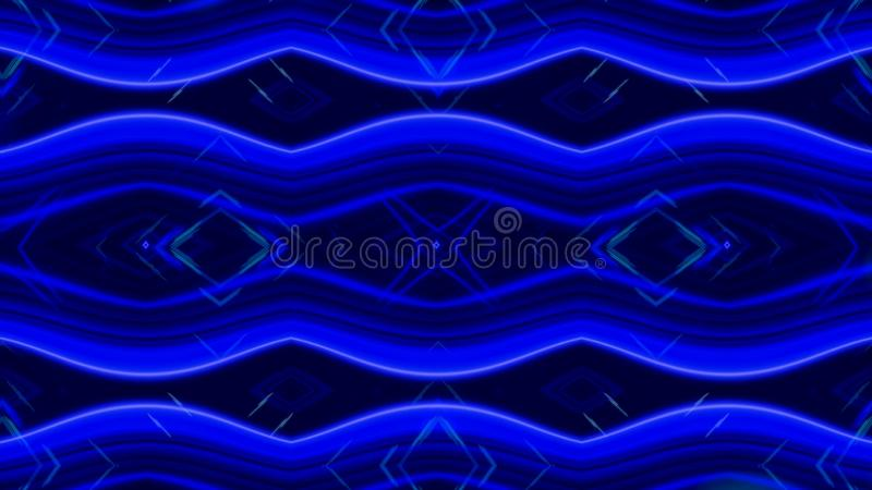 Накаляя динамический калейдоскоп сини и белых, безшовная петля r Красивые изменяя намагничивая диаграммы, конспект бесплатная иллюстрация