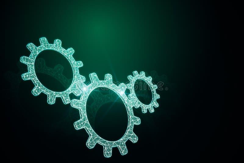 Накаляя зеленые cogwheels бесплатная иллюстрация