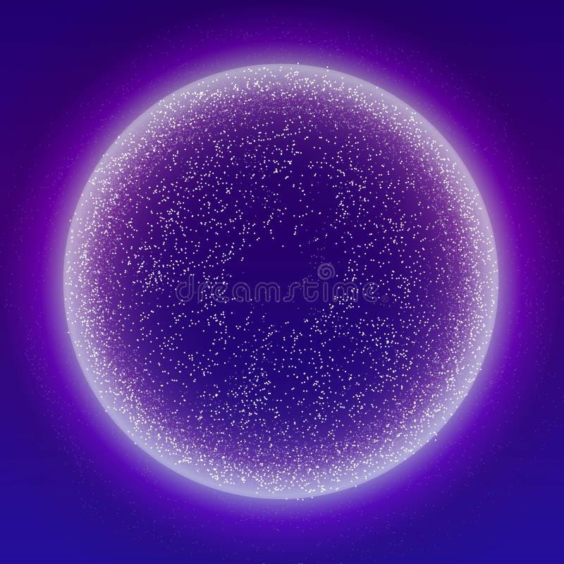 Накаляя подача частиц жидкостная динамическая с накаляя рамкой пузыря Ультрамодный жидкий дизайн крышки Иллюстрация вектора EPS10 иллюстрация штока
