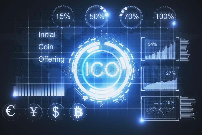 Накаляя предпосылка ICO бесплатная иллюстрация