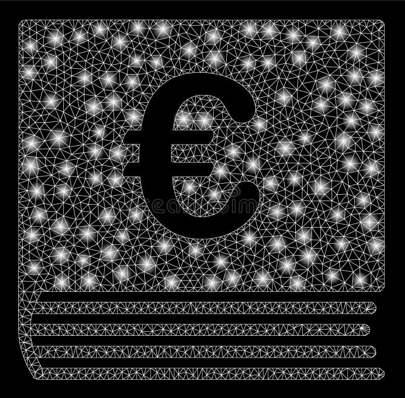 Накаляя продажи евро ячеистой сети записывают с внезапными пятнами иллюстрация штока