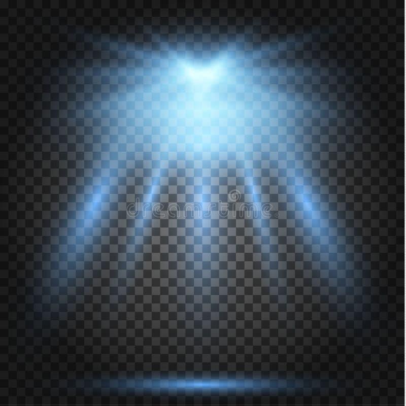 Накаляя световой эффект, пирофакел, взрыв и звезды иллюстрация вектора