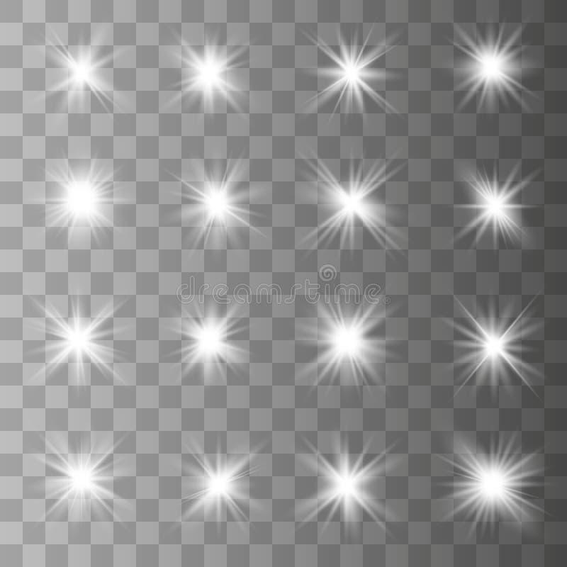 Накаляя световой эффект иллюстрация штока