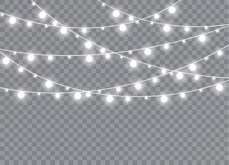 Накаляя свет взрывает на прозрачной предпосылке иллюстрация вектора