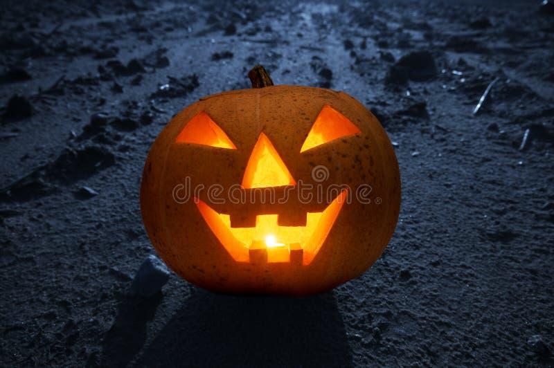накаляя тыква ночи halloween стоковое изображение rf