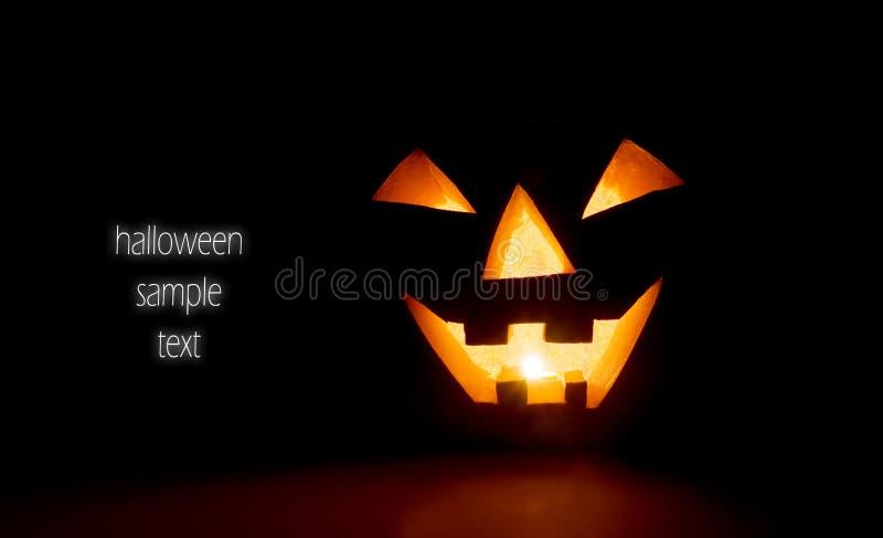 накаляя тыква halloween стоковое фото rf