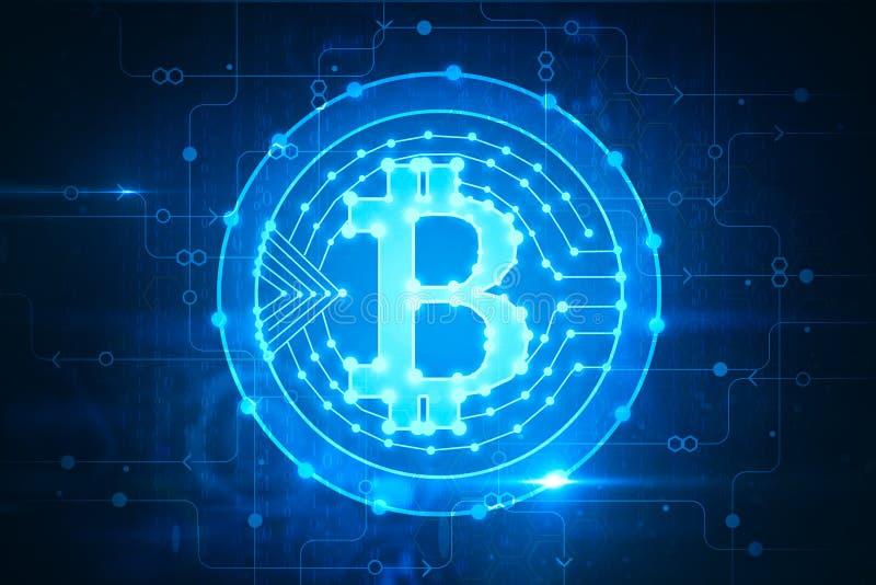 Накаляя фон bitcoin иллюстрация штока