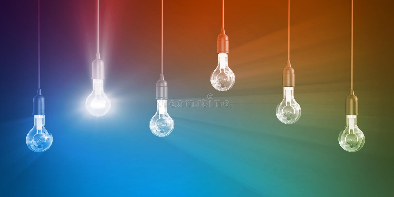 Накаляя электрическая лампочка иллюстрация штока