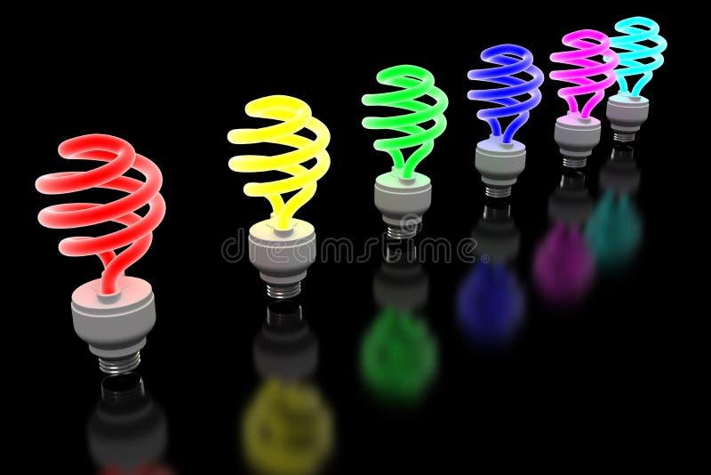 накаляя lightbulb иллюстрация вектора