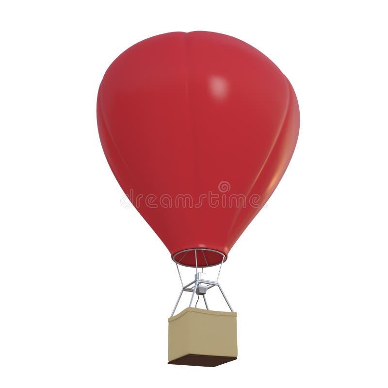 Накаленный докрасна воздушный шар изолированный на белизне бесплатная иллюстрация