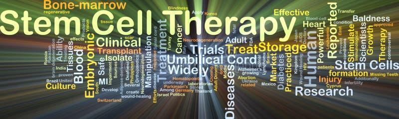 Накалять концепции предпосылки терапией стволовой клетки иллюстрация штока
