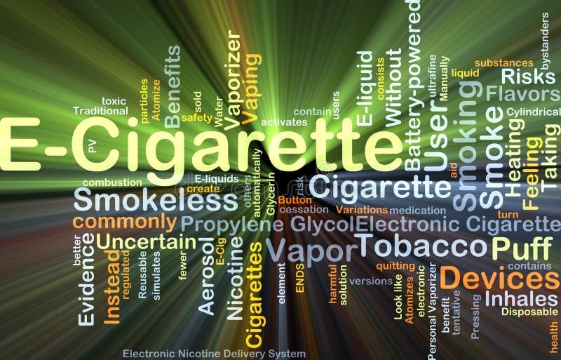 Накалять концепции предпосылки E-сигареты иллюстрация штока