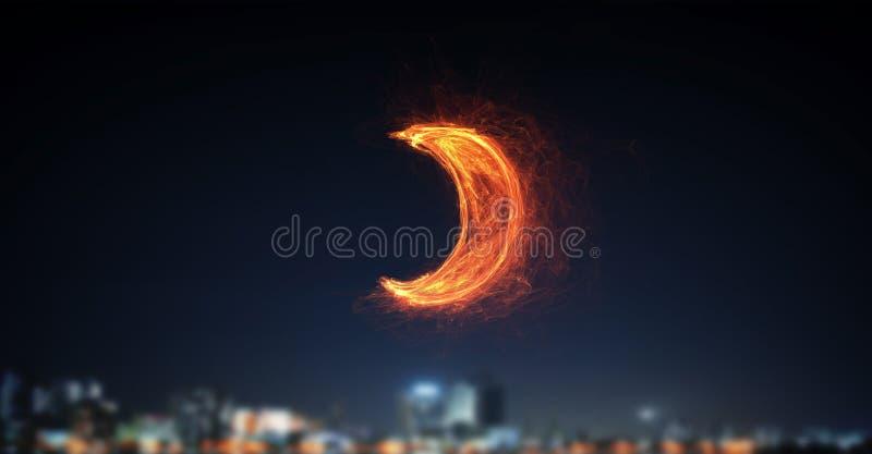 Download Накаляя значок луны Мультимедиа Стоковое Изображение - изображение насчитывающей никто, энергия: 81807745