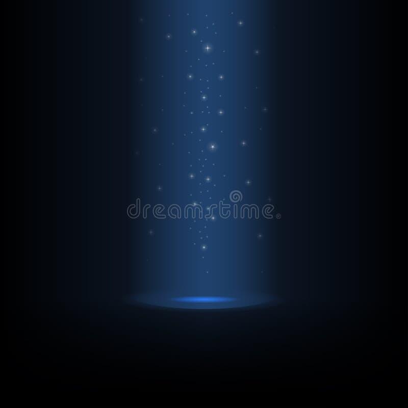 Накаляя пыль звезды льет сверху иллюстрация вектора