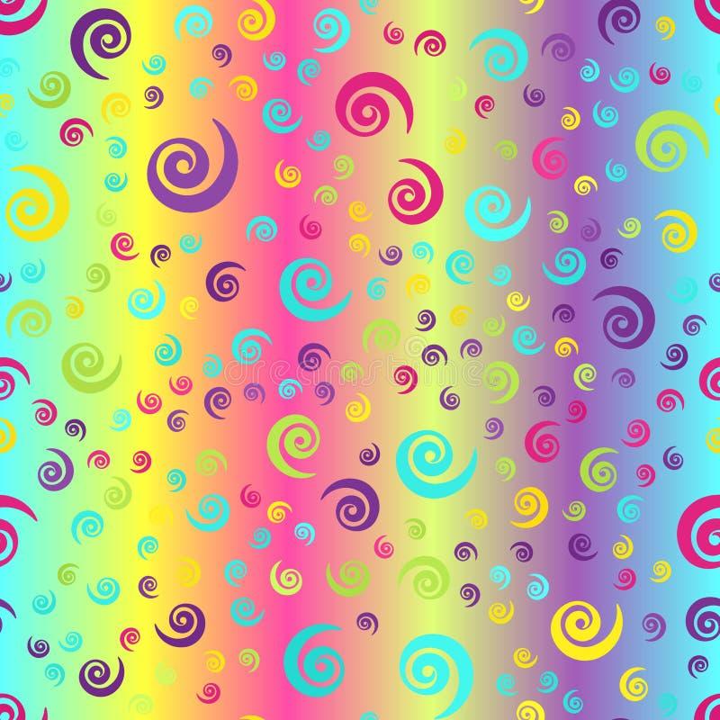 Накаляя спиральная предпосылка Безшовная картина градиента вектора иллюстрация штока