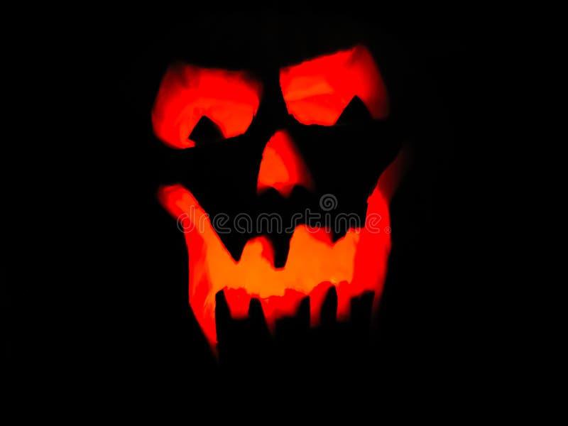 Накаляя Ghoulish оскал тыквы стоковое изображение rf