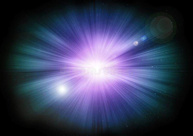 Накаляя stargate в глубоком космосе Светящие светлые пятна бесплатная иллюстрация
