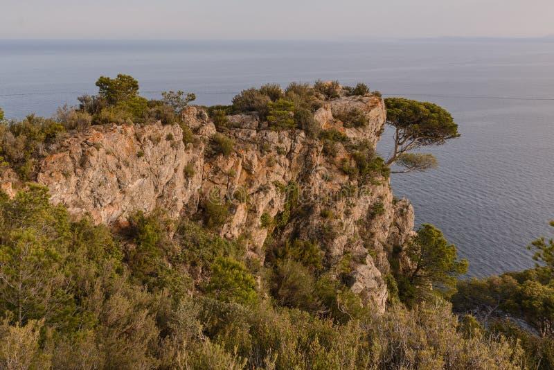 Накидка Norfeu, крышка Norfeu в Косте Brava, Каталонии, Испании стоковые фотографии rf