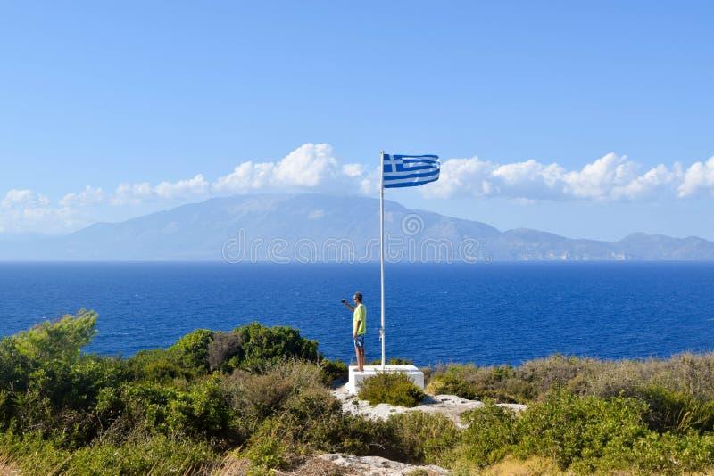 Накидка Skinari, остров Закинфа, Греция стоковые фото