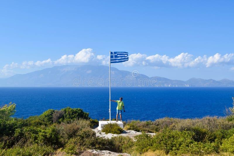 Накидка Skinari, остров Закинфа, Греция стоковые фотографии rf