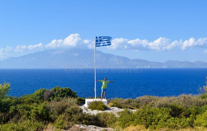 Накидка Skinari, остров Закинфа, Греция стоковая фотография rf