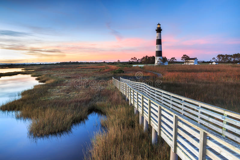 Накидка Гаттерас Северная Каролина маяка острова Bodie стоковые изображения