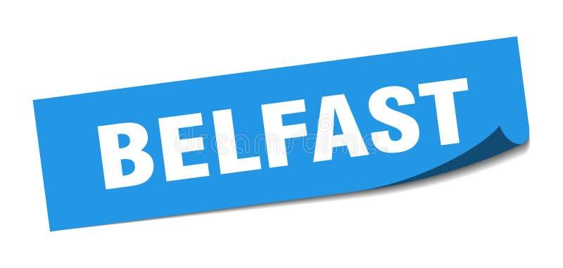 Наклейка Belfast Знак белфастской площади иллюстрация штока