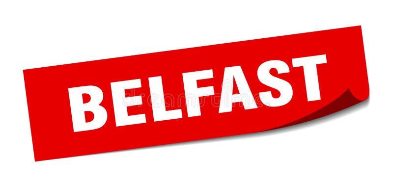 Наклейка Belfast Знак белфастской площади иллюстрация вектора