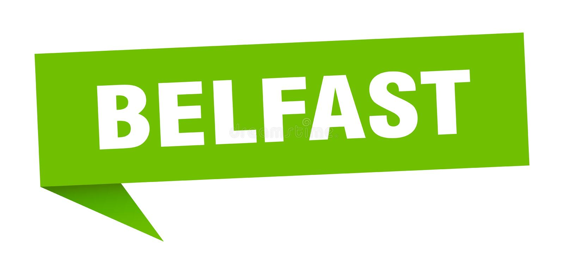 Наклейка Belfast Знак указателя Белфаста иллюстрация штока