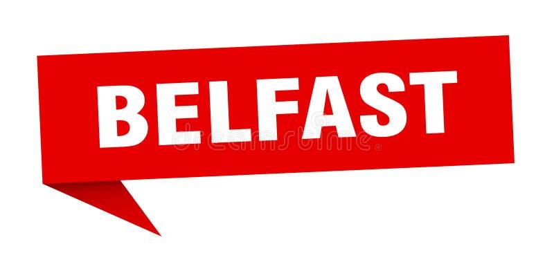Наклейка Belfast Знак указателя Белфаста иллюстрация вектора