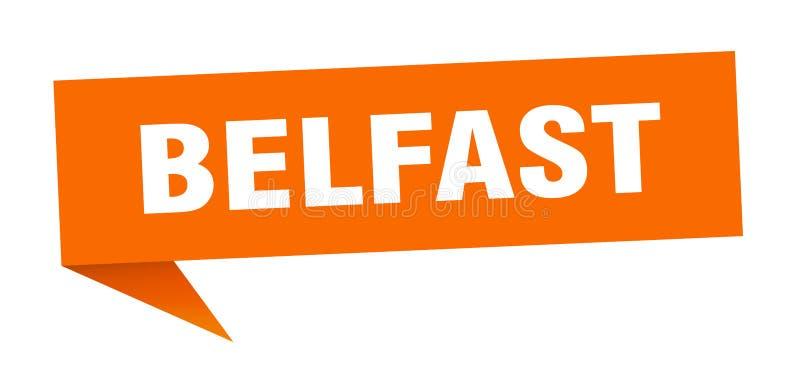 Наклейка Belfast Знак указателя Белфаста бесплатная иллюстрация
