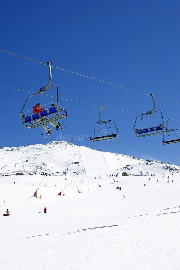 наклоны Испания лыжи курорта pradollano стоковое фото rf