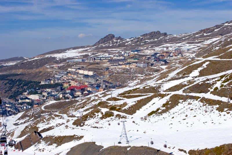 наклоны Испания лыжи курорта pradollano стоковое фото