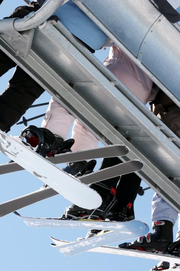 наклоны chairlift к стоковые фотографии rf