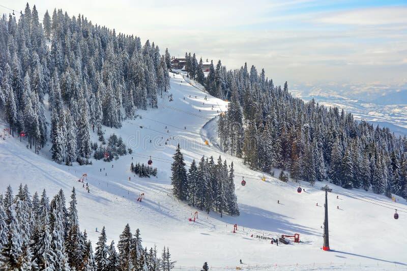 наклон лыжи области caucasus dombay стоковая фотография
